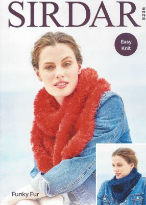8236 - Snood and Scarf Knitting Pattern